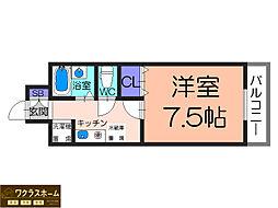 大阪府堺市北区北花田町2丁の賃貸マンションの間取り