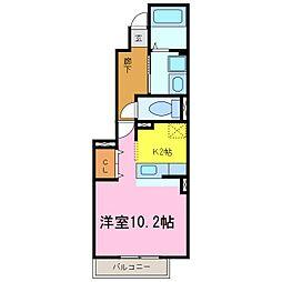愛知県知多郡阿久比町大字植大字鎮の賃貸アパートの間取り