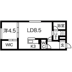 NAGOMU GROOVE[405号室]の間取り