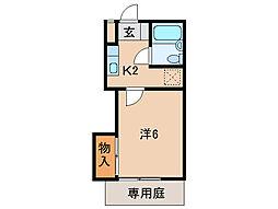 ジョイフル24[1階]の間取り