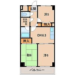 シティプラザ東紺屋町202号[2階]の間取り