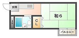 ニューパールハイツ[2階]の間取り