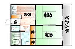 田原アパート[2階]の間取り