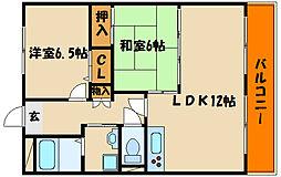 兵庫県明石市旭が丘の賃貸マンションの間取り