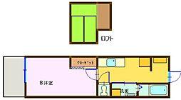 広島県呉市本通1丁目の賃貸アパートの間取り