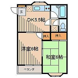 ハイツサクマ[1階]の間取り