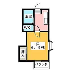 シティーハイツC棟[1階]の間取り