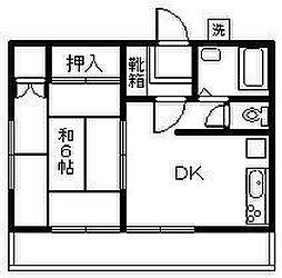横山アパートII[202号室]の間取り