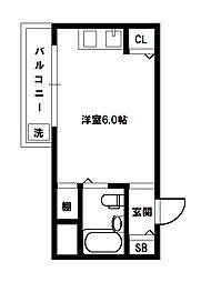 エクト1[3階]の間取り