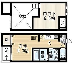 アソルティ本陣北 (アソルティホンジンキタ)[1階]の間取り