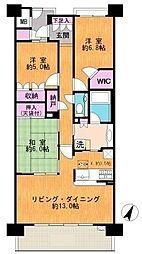 東京都稲城市向陽台6丁目の賃貸マンションの間取り