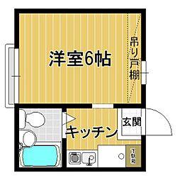 プレステージ下倉田II[103号室]の間取り