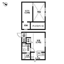 埼玉県加須市富士見町の賃貸アパートの間取り
