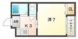 メゾン・ドゥ・エスポアール[2階]の間取り