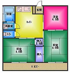 稲村ハイツ[2階]の間取り