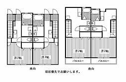 JR津山線 法界院駅 徒歩14分の賃貸アパート 1階1Kの間取り