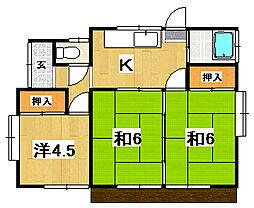 [一戸建] 茨城県常陸太田市木崎二町 の賃貸【茨城県 / 常陸太田市】の間取り