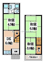 [テラスハウス] 大阪府大東市北条6丁目 の賃貸【/】の間取り