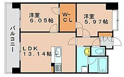 ニューガイアサンコーポフジシン[3階]の間取り