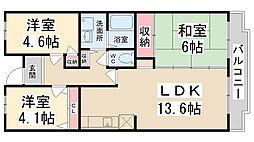 courtひらき坂[503号室]の間取り