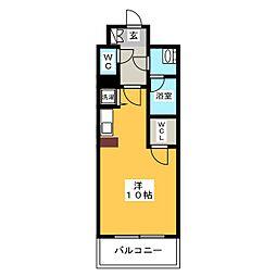 アソシアグロッツォ・クアトロ博多[13階]の間取り