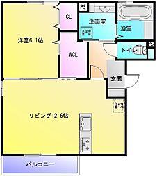 (仮称)D-room恩智中町B棟[2階]の間取り