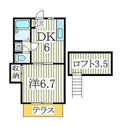 サニーハイツ麗光[1階]の間取り