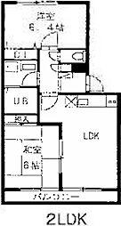 セントラル尾西[2階]の間取り