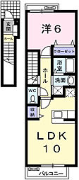 パークメゾン田寺II[2階]の間取り