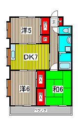 リバーパーク南浦和[1階]の間取り