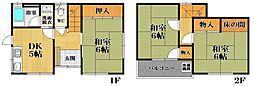[一戸建] 大阪府松原市阿保3丁目 の賃貸【/】の間取り