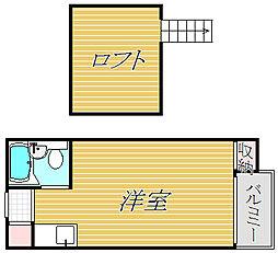 ナカノシオン駒沢[1階]の間取り