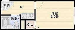コンフォート本町[3階]の間取り