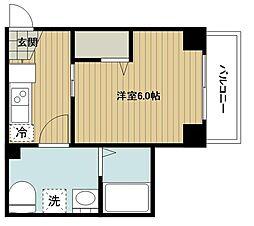 S-RESIDENCE妙蓮寺 5階1Kの間取り