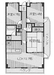 兵庫県尼崎市西昆陽3丁目の賃貸マンションの間取り