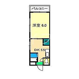 第2コーポタテワキ[3階]の間取り