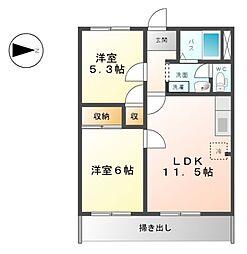 アーバンハイツNIWA[1階]の間取り