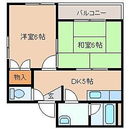 三重県四日市市中部の賃貸マンションの間取り