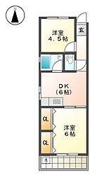 服部ビル[4階]の間取り