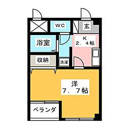 コートデューク花ノ木[1階]の間取り