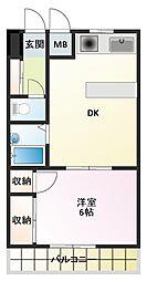 D-スクウェア加古川[4階]の間取り