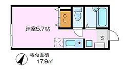 神奈川県横浜市金沢区富岡西3丁目の賃貸アパートの間取り