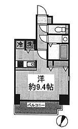 東京都千代田区岩本町2丁目の賃貸マンションの間取り