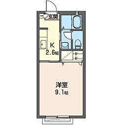 オレンジヒルズA[2階]の間取り