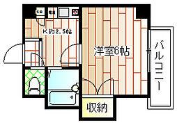 豊里芙蓉ハイツ[5階]の間取り