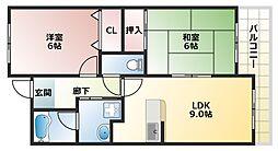 ラシーヌK[8階]の間取り