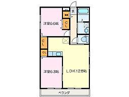 クラウドIIIB棟[2階]の間取り