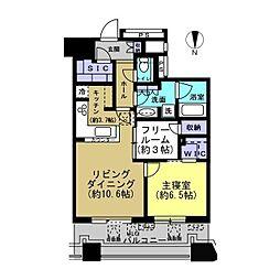 パークシティ武蔵小杉ザ・ガーデンタワー・イースト[3111号室]の間取り