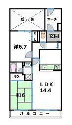 グリーンマンションII[7階]の間取り