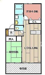 ディアス21 A棟[201号室]の間取り